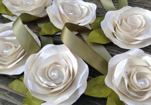 Wedding place settings. Wedding place cards. wedding favors. Ivory roses. shabby chic. Cake topper. wedding escort cards. YOUR COLORS