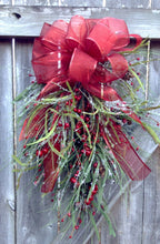 Holiday swag. Country Christmas. Holiday wreath. Christmas wreath. Pine wreath. holiday decor. christmas decor. Red wreath