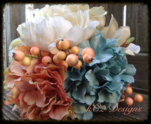 Wedding bouquet. Beach. Silk bouquet. Bridal bouquet. YOUR COLORS. Teal wedding. Beach wedding. sapphire wedding. blush wedding. 2020.
