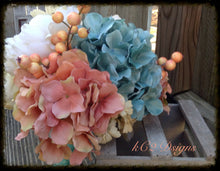 Silk flower wedding bouquet. Silk bouquet. Bridal bouquet. YOUR COLORS. Teal wedding. Beach wedding. sapphire wedding. blush wedding. 2019.
