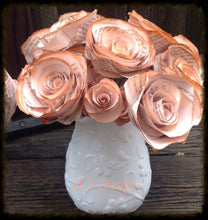 Book page roses. Set of pink tea stained paper roses. Wedding centerpiece. Vintage flowers. Bridal bouquet. 2015 wedding trends.