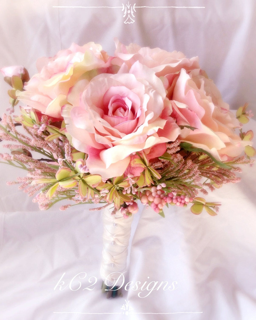 Silk flower wedding bouquet. blush wedding.  Silk bouquet. Bridal bouquet. YOUR COLORS. blush. bridesmaid bouquet.  2019 wedding trends.