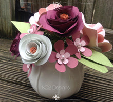 Paper flowers. Mothers Day. Centerpiece. Rusting wedding. Gift idea. fall flowers. Blush. Pink roses. hospital gift. YOUR COLORS