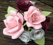 Paper flowers. Holiday gift. Centerpiece. Rusting wedding. Gift idea. fall flowers. Blush. Pink roses. hospital gift. YOUR COLORS