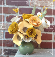 Fall Paper flowers Fall Centerpiece. Rustic wedding. Gift idea. fall flowers. hospital gift. YOUR COLORS. Thanksgiving decor. Yellow.