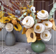 Paper flowers. Centerpiece. Rustic wedding. Gift idea. Spring flowers. hospital gift. YOUR COLORS. Yellow and gray decor. summer flowers