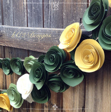 Paper Flower Garland green garland Wedding Garland. 2015 colors of the year.