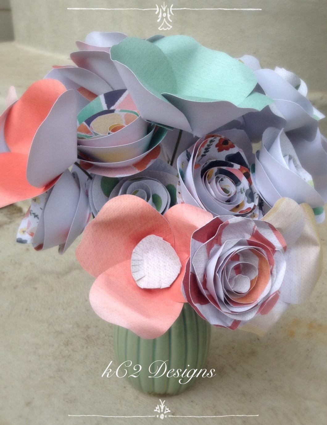 Paper flowers spring flowers home decor  Wedding centerpiece. Vintage flowers. Watercolor flowers. Thanksgiving decor. Christmas decor