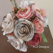 Paper flowers centerpieces table numbers Valentines Day Mothers Day blush roses baby girl rustic wedding ceramic vase paper rose rustic
