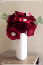 Paper flowers spring flowers home decor  Wedding centerpiece. Valentine's flowers. Bridal bouquet Wedding centerpieces. YOUR COLORS red rose