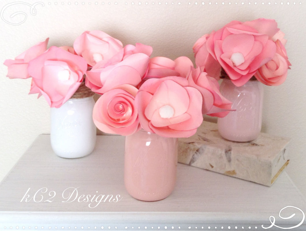 Paper Flowers Centerpieces Table Numbers Summer Wedding Mothers Day