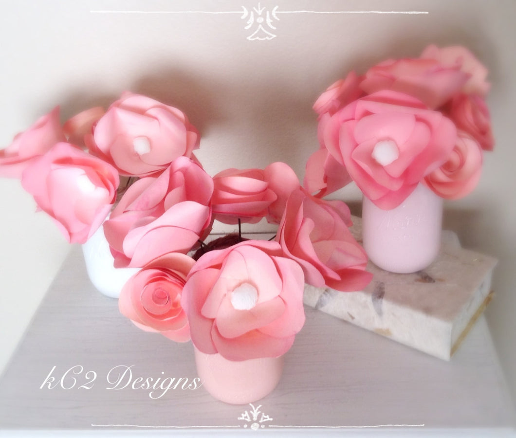 Paper flowers centerpieces table numbers summer wedding Mothers Day ...