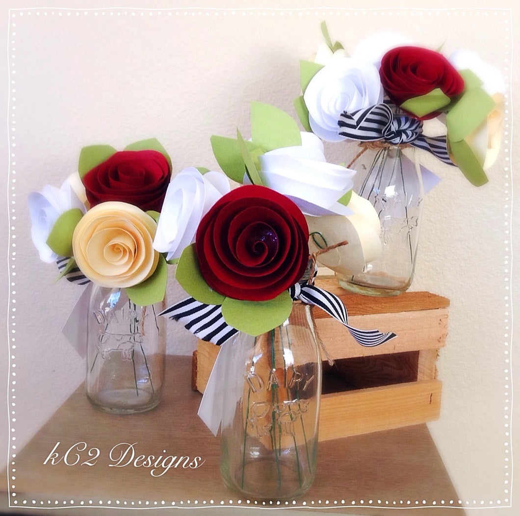 paper flowers centerpieces table numbers mothers day roses baby rustic