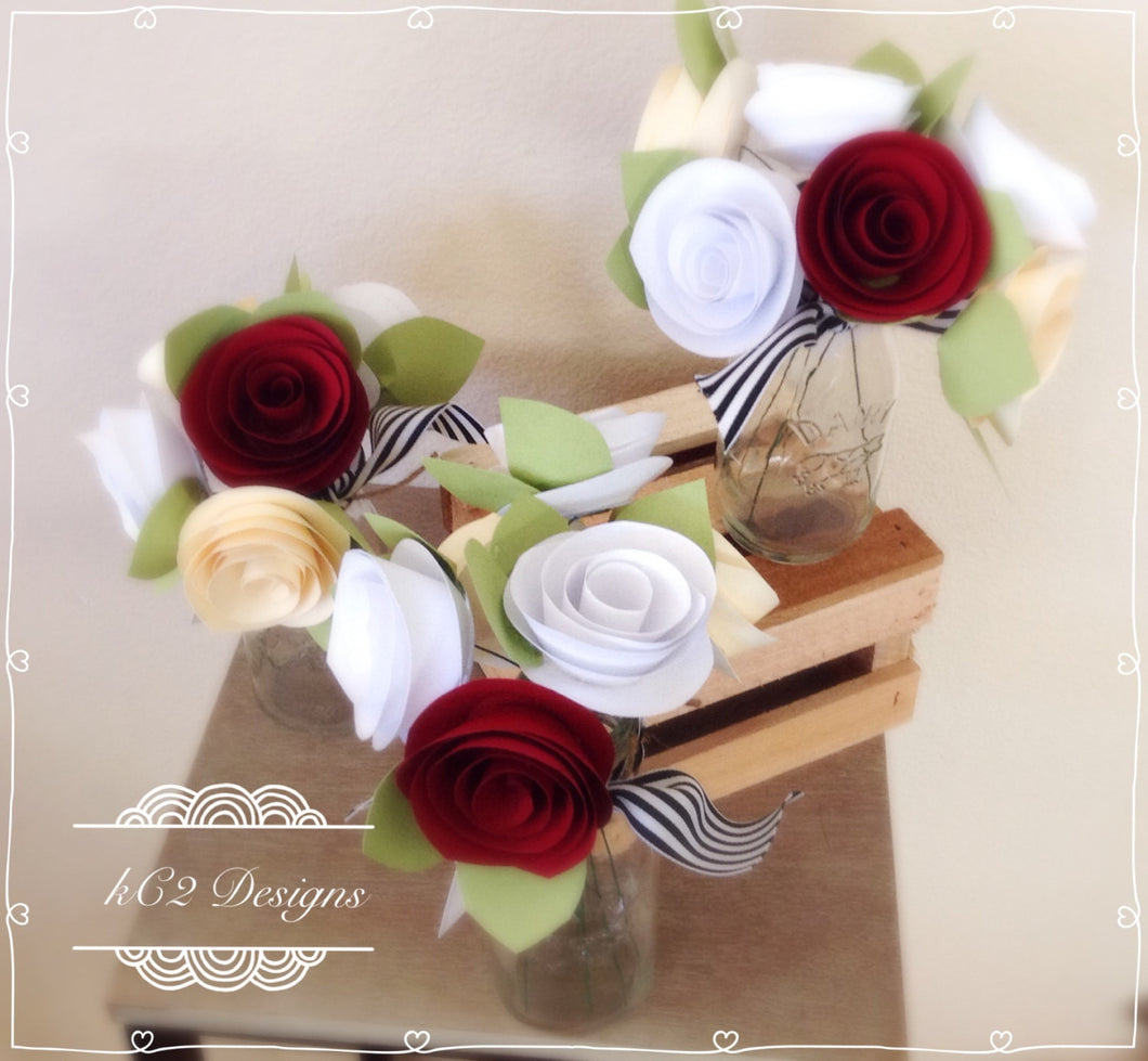 Paper Flowers Centerpieces Table Numbers Mothers Day Roses Baby