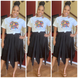 Charming Confidence Shirred Skirt