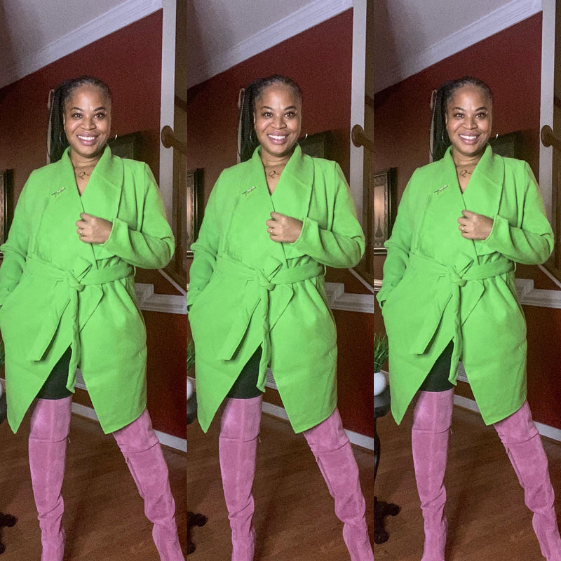 Pink and Green For Me Coat