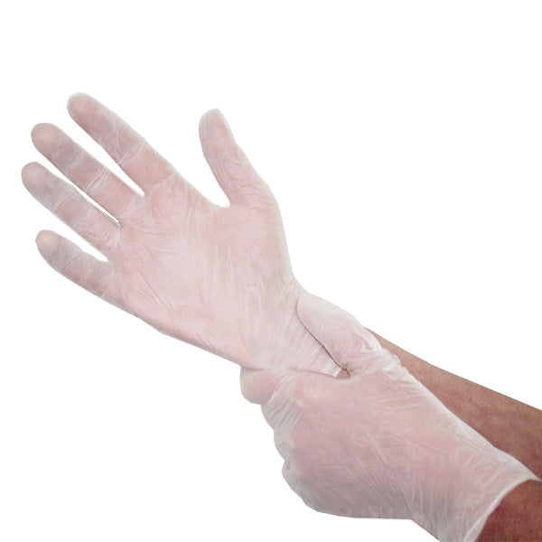 Medical Grade Vinyl Gloves - Box Of 100 - Medbasic