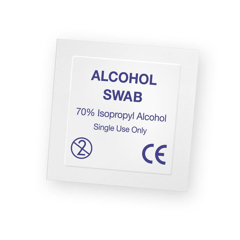 Pre-Injection Alcohol Swabs - Medbasic.co.uk
