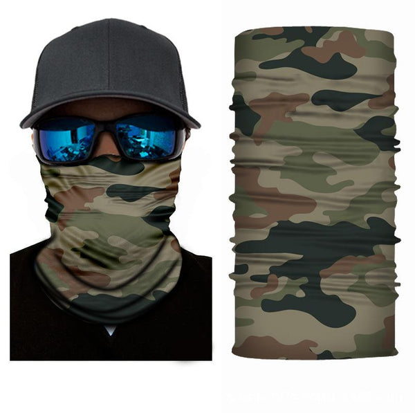 Green Camo Bandana Face Shield