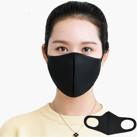 Black Breathable Lightweight Face Mask (Set of 4)