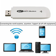 Load image into Gallery viewer, 4G/3G LTE USB Modem Network Adapter With WiFi Hotspot SIM Card 4G Wireless Wi-Fi Router For Win XP Vista 7/10 Mac 10.4 IOS