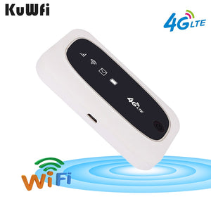 KuWFi 4G Wifi Router 4G FDD/TDD LTE Routers 150Mbps Pocket Wifi Mini Wireless Router&Wireless Modem With SIM/SD Card Slot