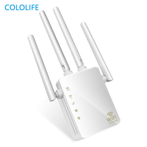300/1200Mbps Dual Band AC Wireless 2.4G / 5G Wifi Repeater 4 High Antennas Bridge Router Signal Amplifier Wired Access Point