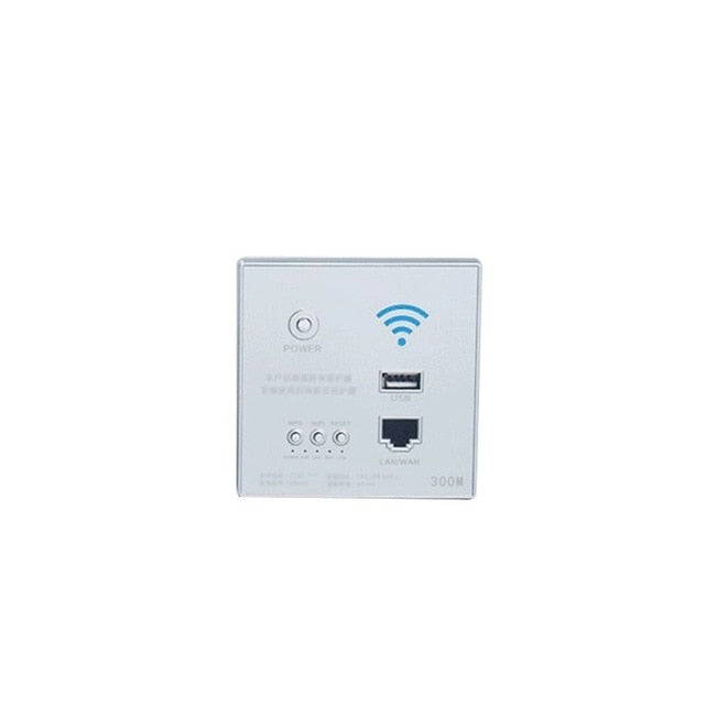 4 Colors 300Mbps 220V Smart Wireless WIFI Repeater Extender Wall Embedded Router Socket 83XB83XB