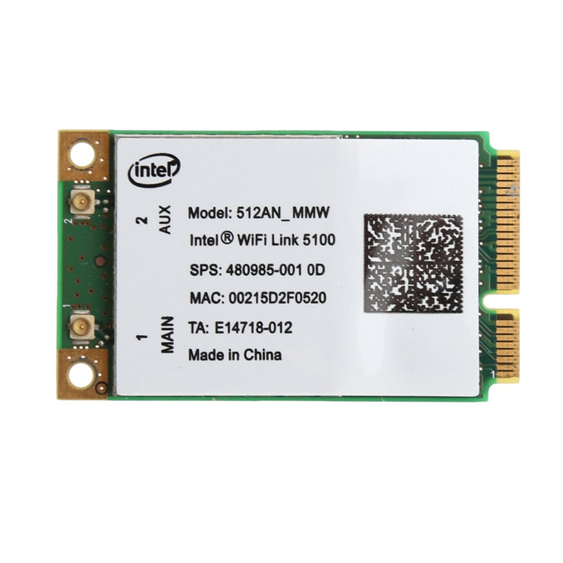 For Link Intel 5100 WIFI 512AN_MMW 300M Mini PCI-E Wireless WLAN Card 2.4/5GHz 802.11a/g/n