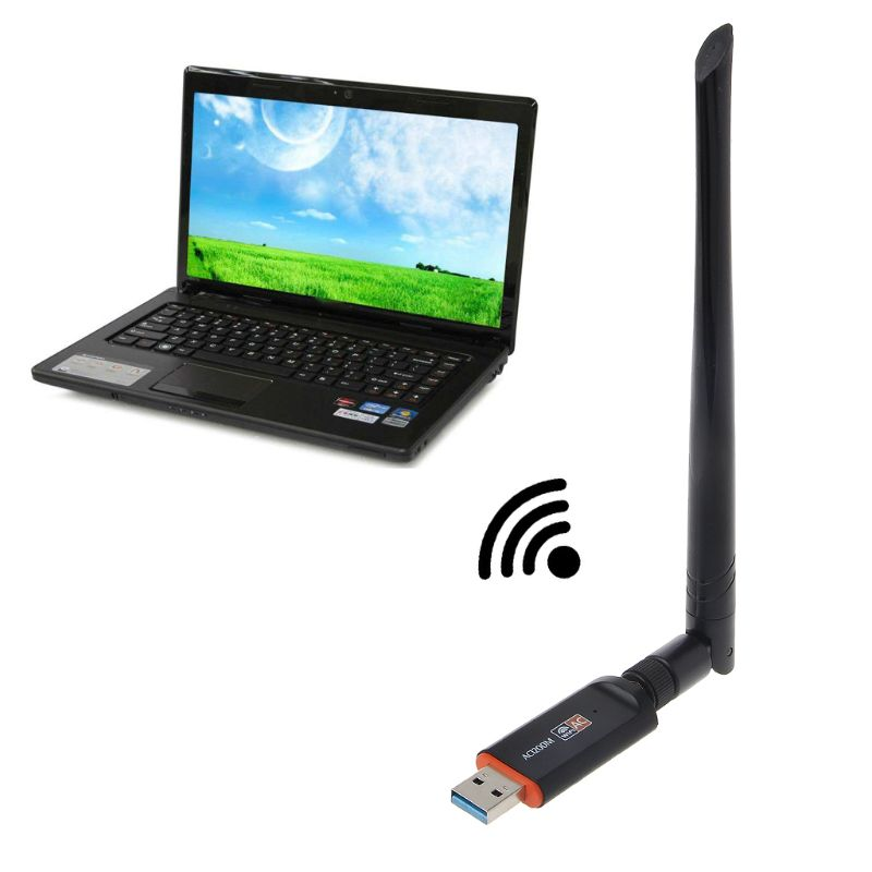 Hot 1200Mbps USB 3.0 Wireless Wifi Adapter Super Speed Network Card RTL8812 Dual Band with AC Antenna For Laptop Desktop