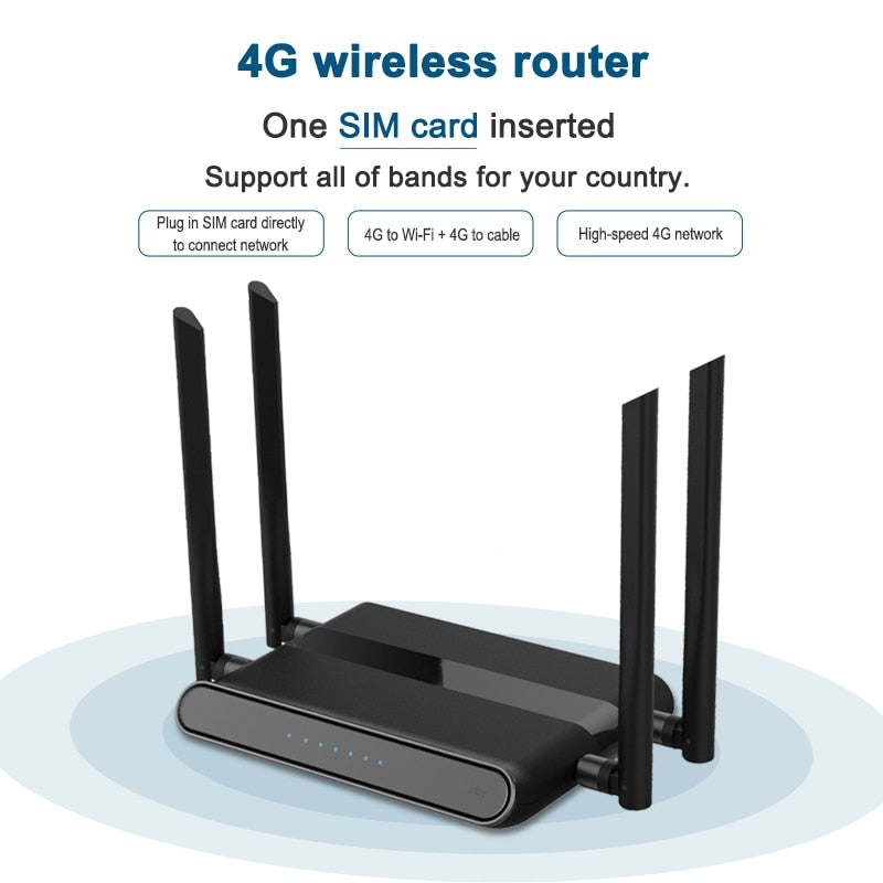 4g outdoor modem router without corpus SIM card vpn qos strong wifi router gsm lte access point easy to set up 300mbps WE5926