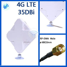 Load image into Gallery viewer, 2M Cable 3G 4G LTE 35dbi Antenna External Antennas for Huawei ZTE 4G LTE Router Modem Aerial with SMA Connector