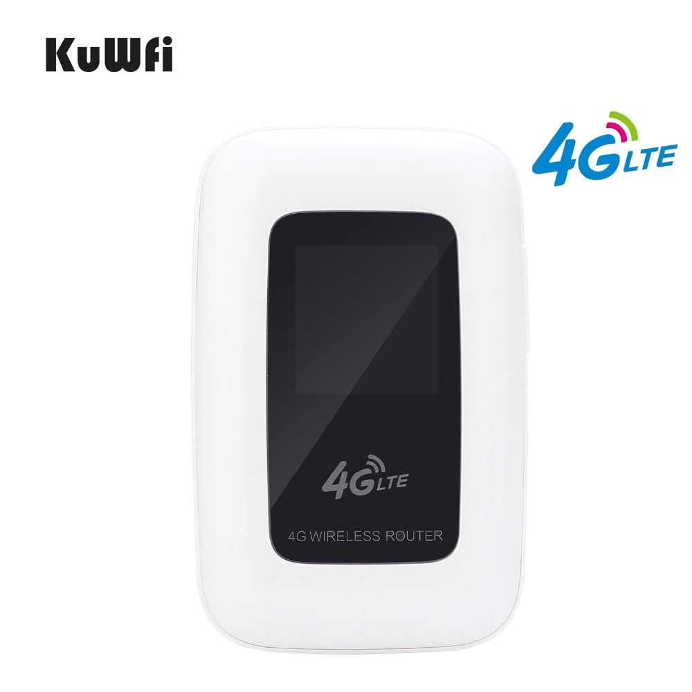 KuWfi 4G LTE Wifi Router Portable 150Mbps WIFI Mobile Hotspot 4G Travel Router Car Router&Modem With SIM Card slot