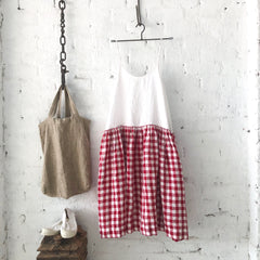 High Tea Slip Dress - Red & White Gingham