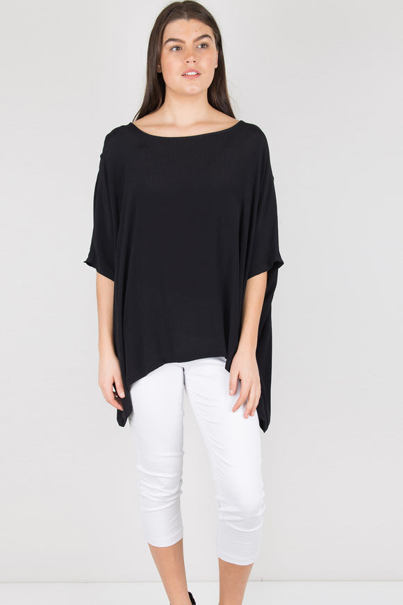 Drape top in black