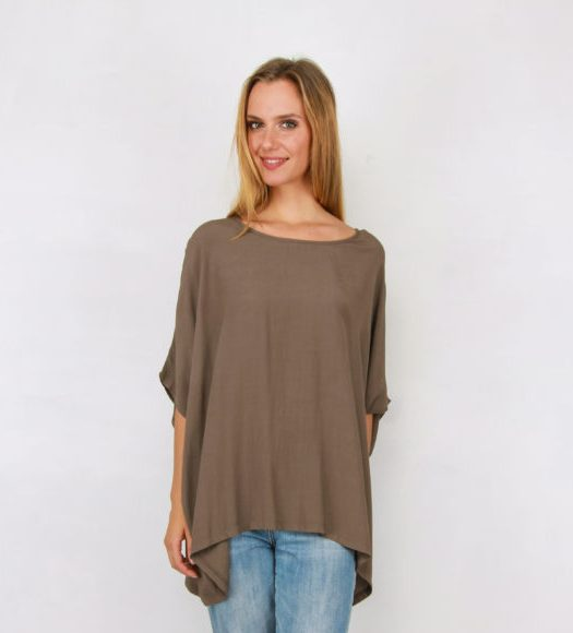 Drape Top in Charcoal