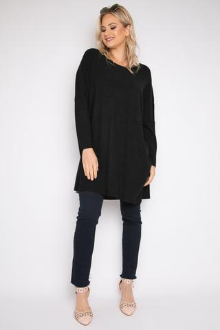 Lounge tunic in black