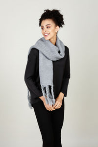 Chunky charcoal scarf