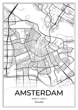 Load image into Gallery viewer, Amsterdam Map I