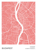 Load image into Gallery viewer, Budapest Map Red