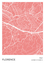 Load image into Gallery viewer, Florence Map Red