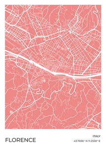 Florence Map Red