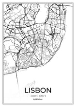 Load image into Gallery viewer, Lisbon Map I