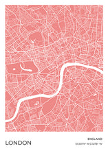 Load image into Gallery viewer, London Map Red