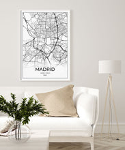 Load image into Gallery viewer, Madrid Map I