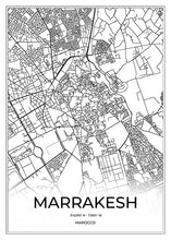 Load image into Gallery viewer, Marrakesh Map I