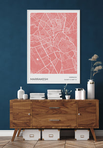 Marrakesh Map Red
