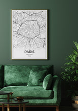 Load image into Gallery viewer, Paris Map I