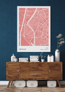 Seville Map Red