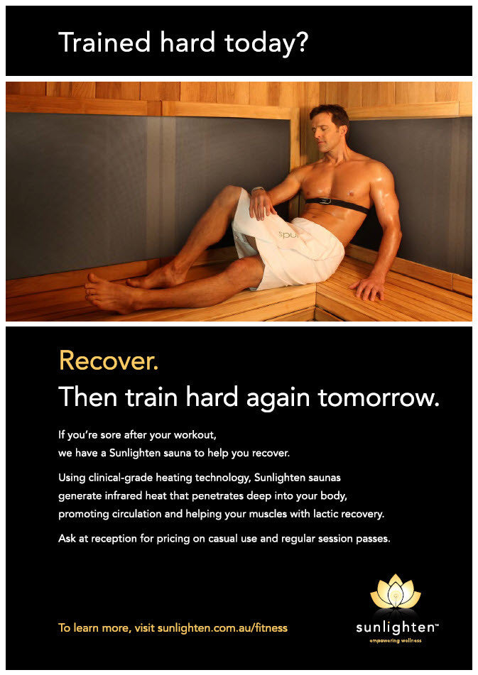 Promotional Poster #11 - Trained hard today? (Cabin Sauna)